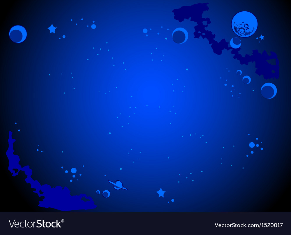 Outer Space Cartoon Background Royalty Vector Image 1000x809