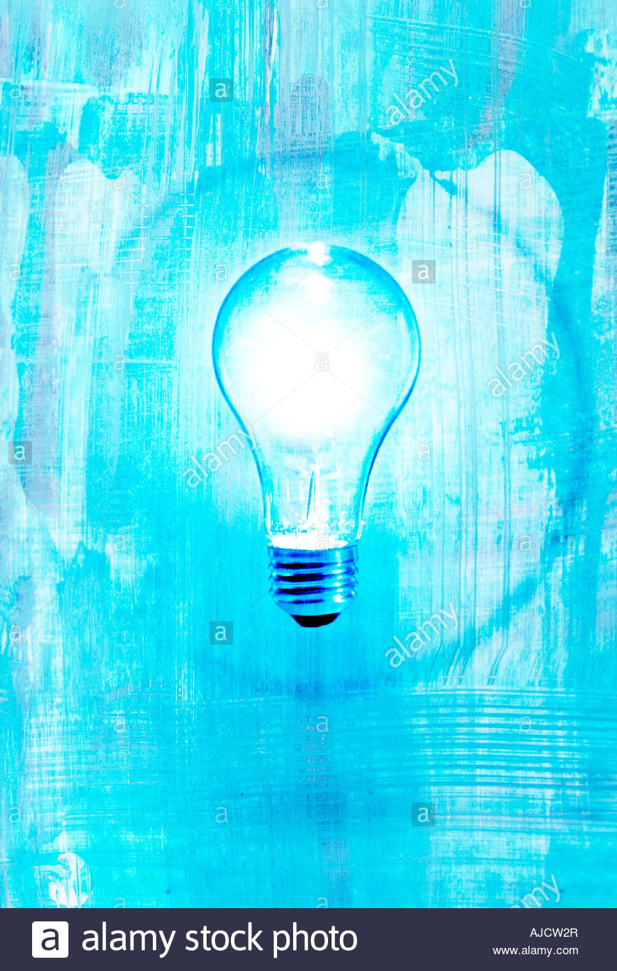 bright light bulb with blue background and circle showing idea or 884x1390