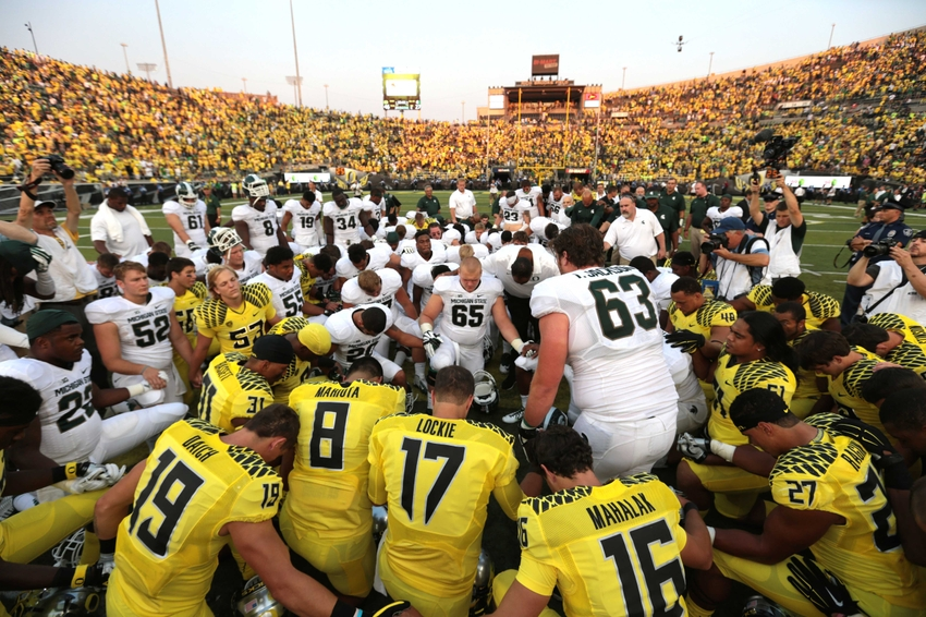 ... 2014; Eugene, OR, USA; Oregon Ducks and Michigan State Spartans
