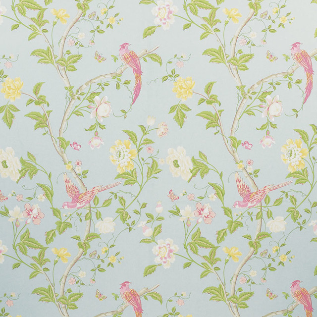 Summer Palace Wallpaper Duck Egg   Traditional   Wallpaper   by LAURA 640x640