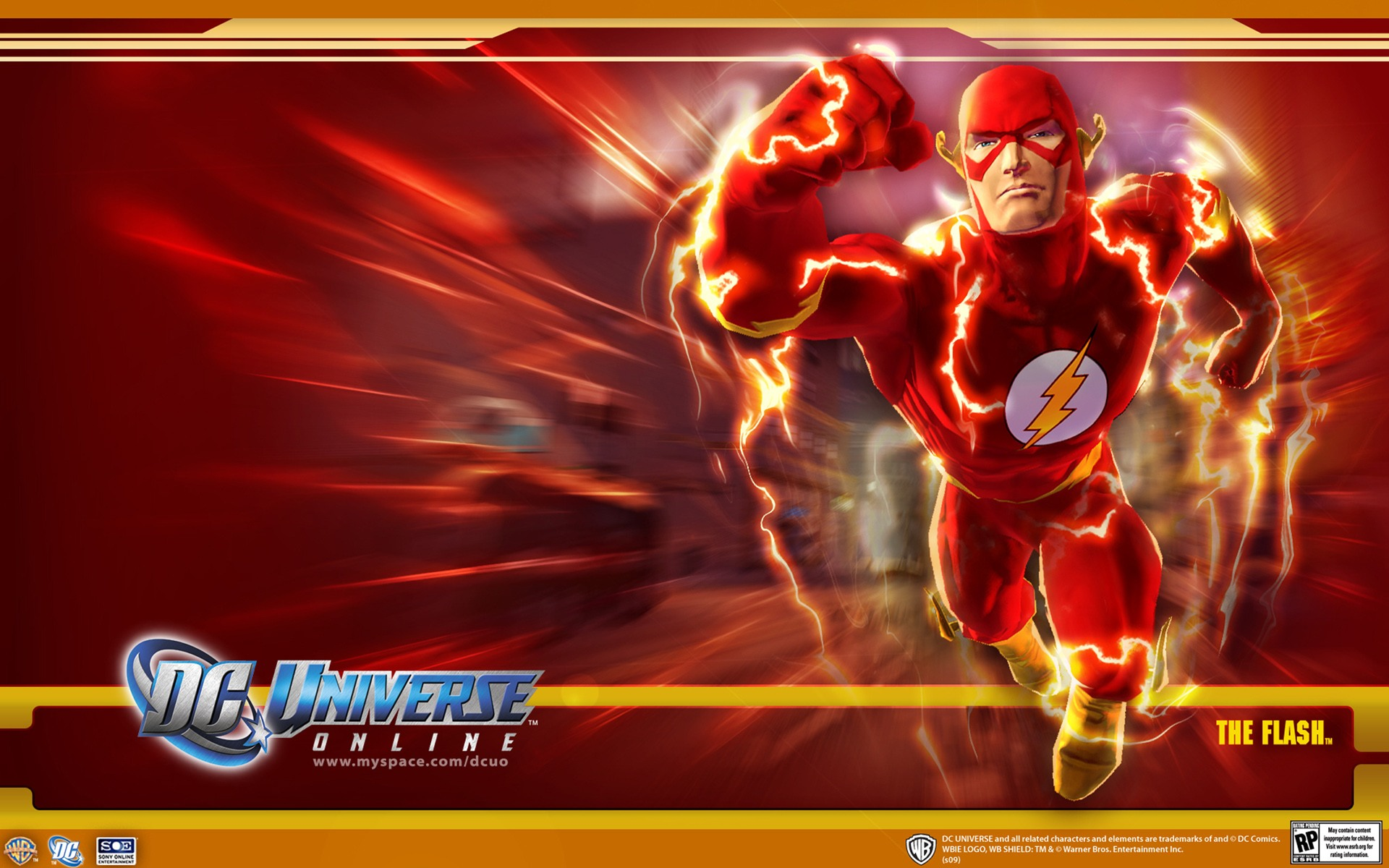 DC Universe Online   Flash desktop wallpaper 1920x1200