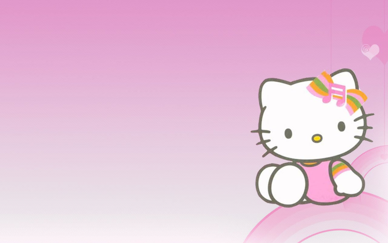 Hello Kitty Fondo Rosado Pink Wallpaper 1280x800 Full HD Wallpapers 1280x800