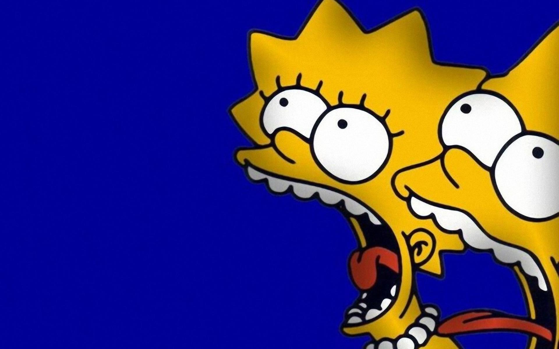 Lisa and Bart Lisa and Bart freaks out 1920x1200
