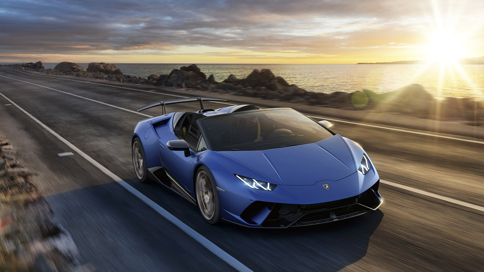 2019 Lamborghini Huracan Performante Spyder Wallpapers HD Images 1920x1080