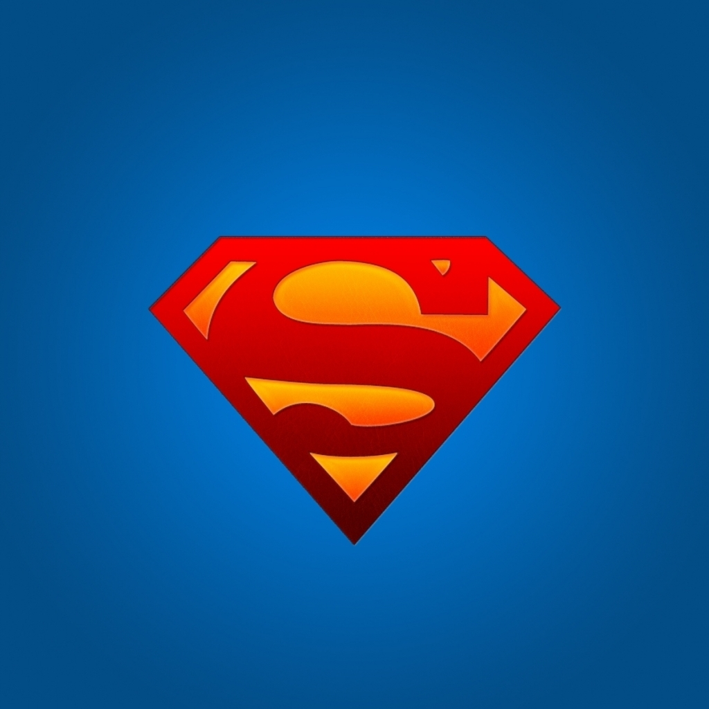Superman Logo On Blue Hd Wallpaper Wallpaper List 1024x1024