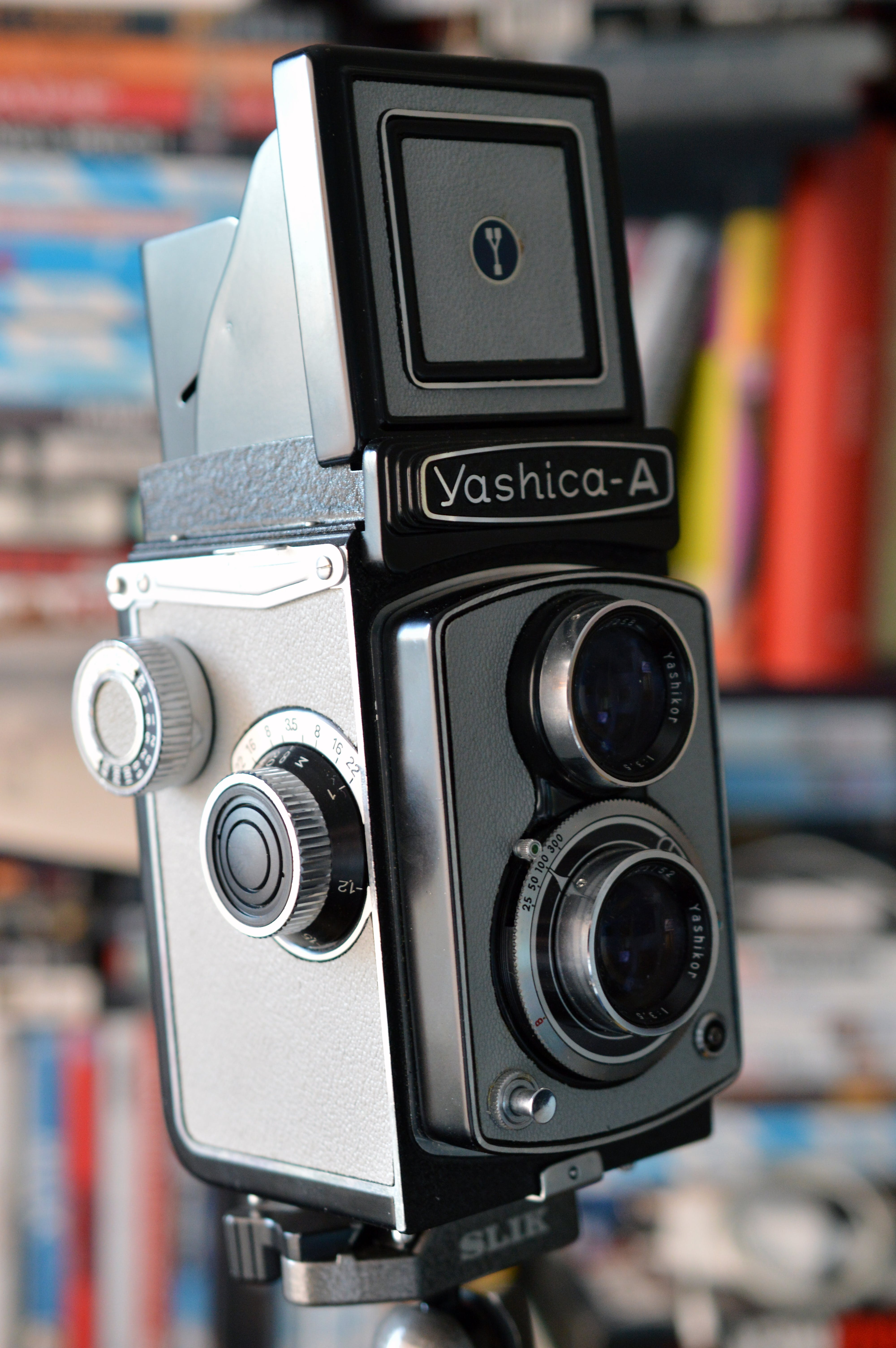 Grey And Black Yashica a Camera   Stock Photo Image 4000x6016