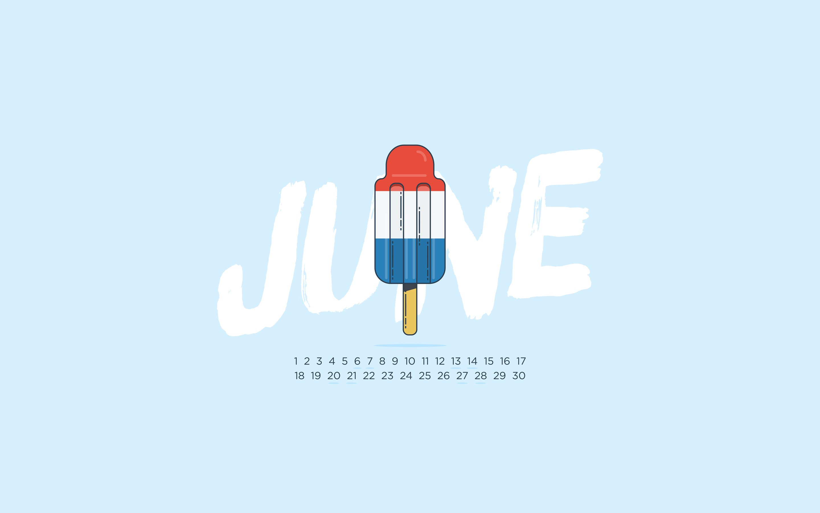 so you can download the June 2015 Desktop Calendar Wallpaper 2880x1800