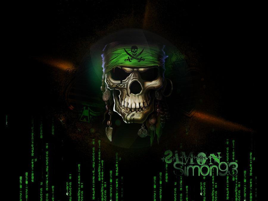Hacker skull Wallpaper by Simon93 ITA 900x675