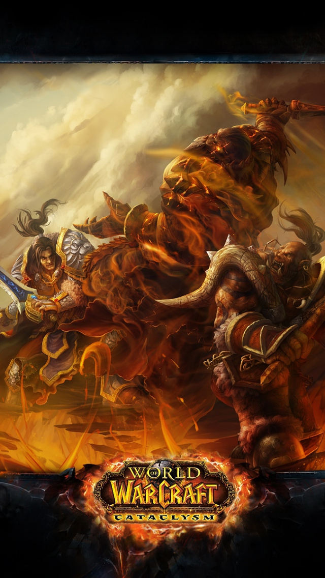 Wallpaper 640x1136 wow cataclysm world of warcraft battle warcraft 640x1136