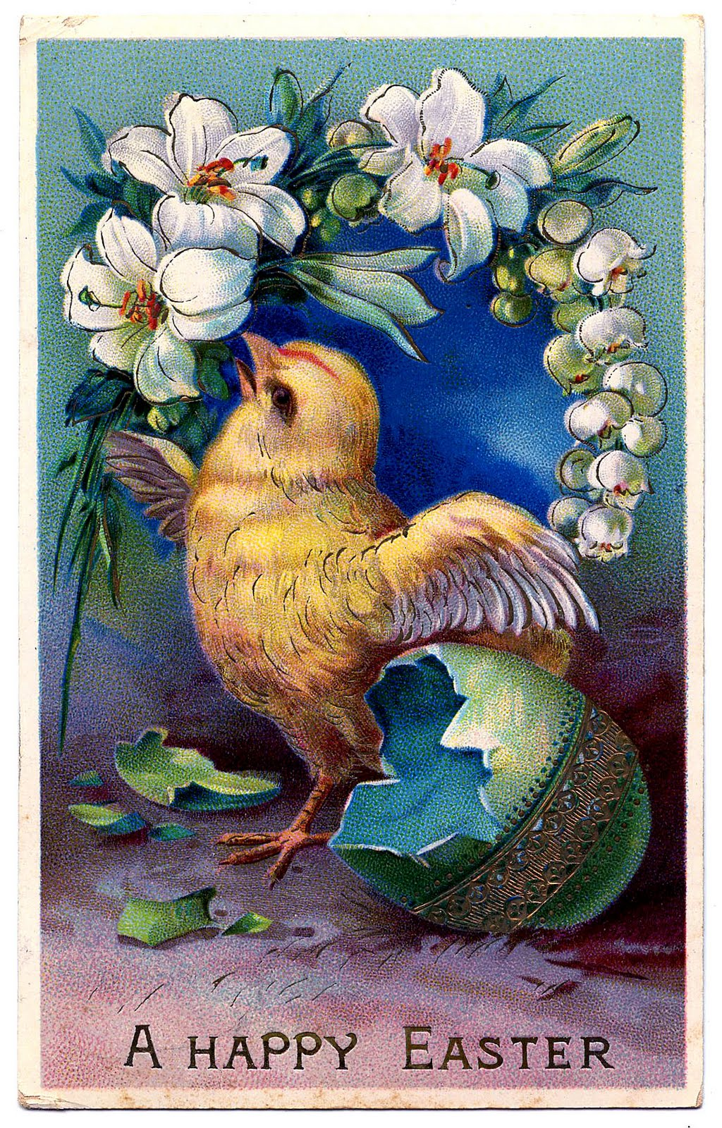 Vintage Easter Clip Art   Sweet Baby Chick with Egg   The Graphics 1024x1600