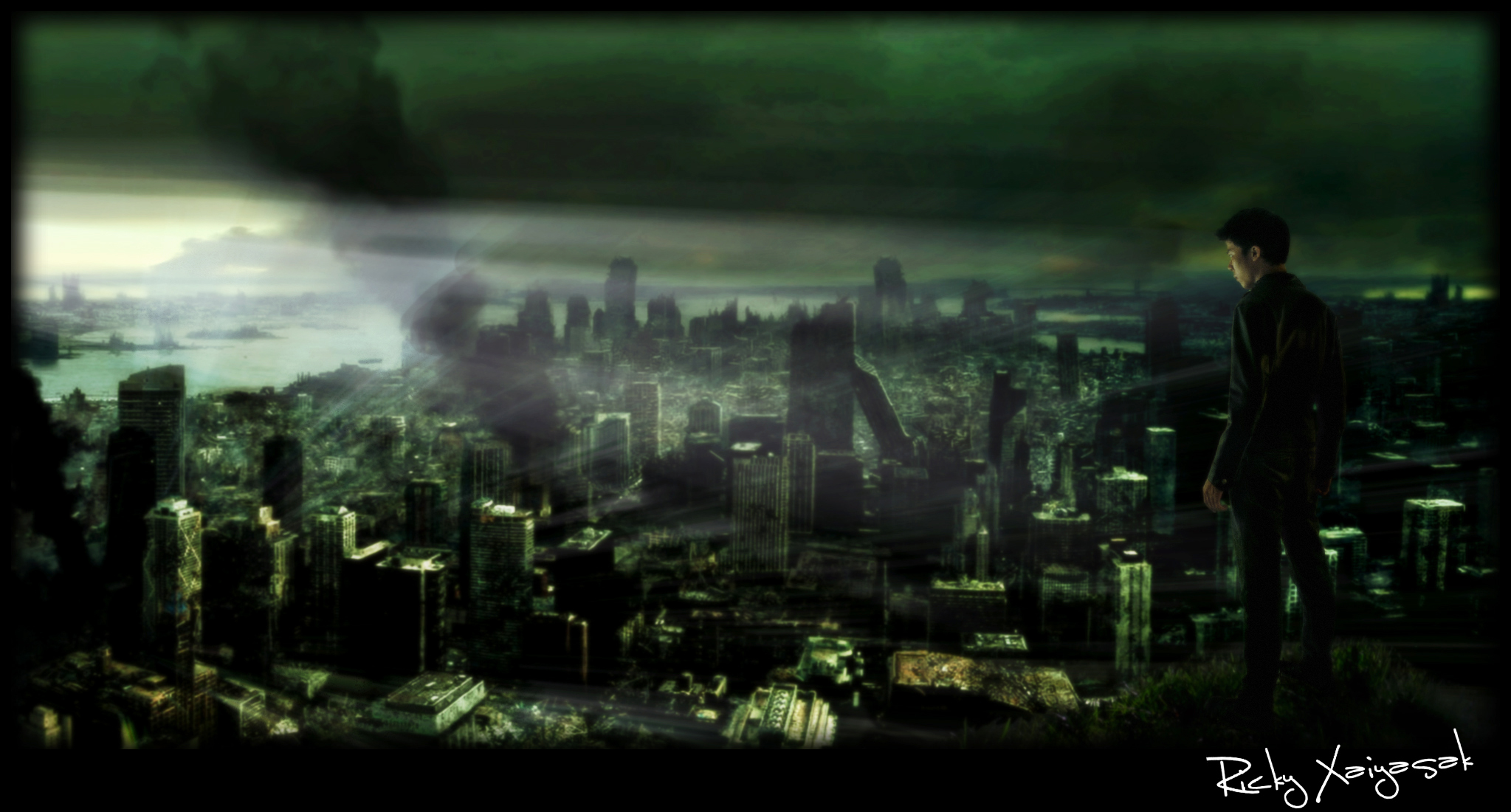 Destroyed City Wallpaper images 2047x1100