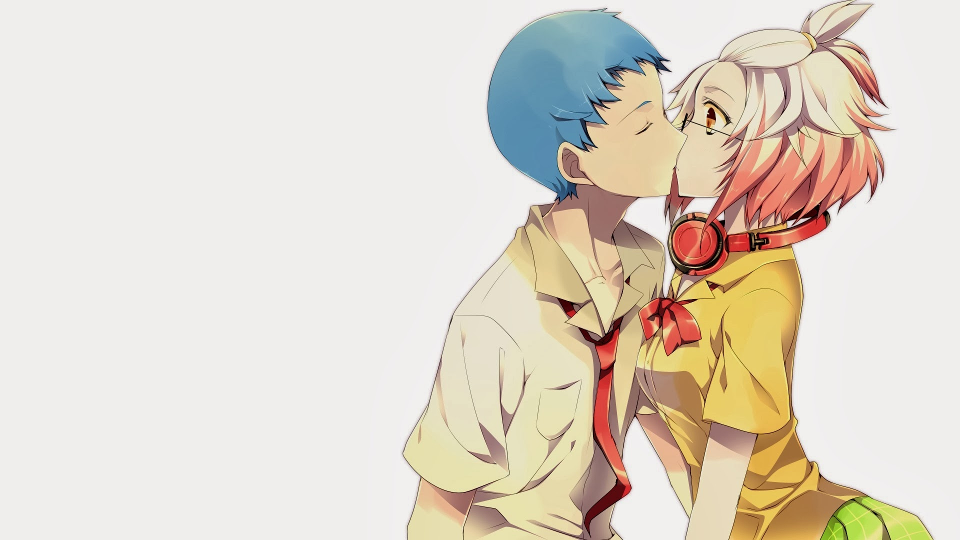Animated Love Kiss Wallpaper : Anime couple HD Wallpaper - WallpaperSafari