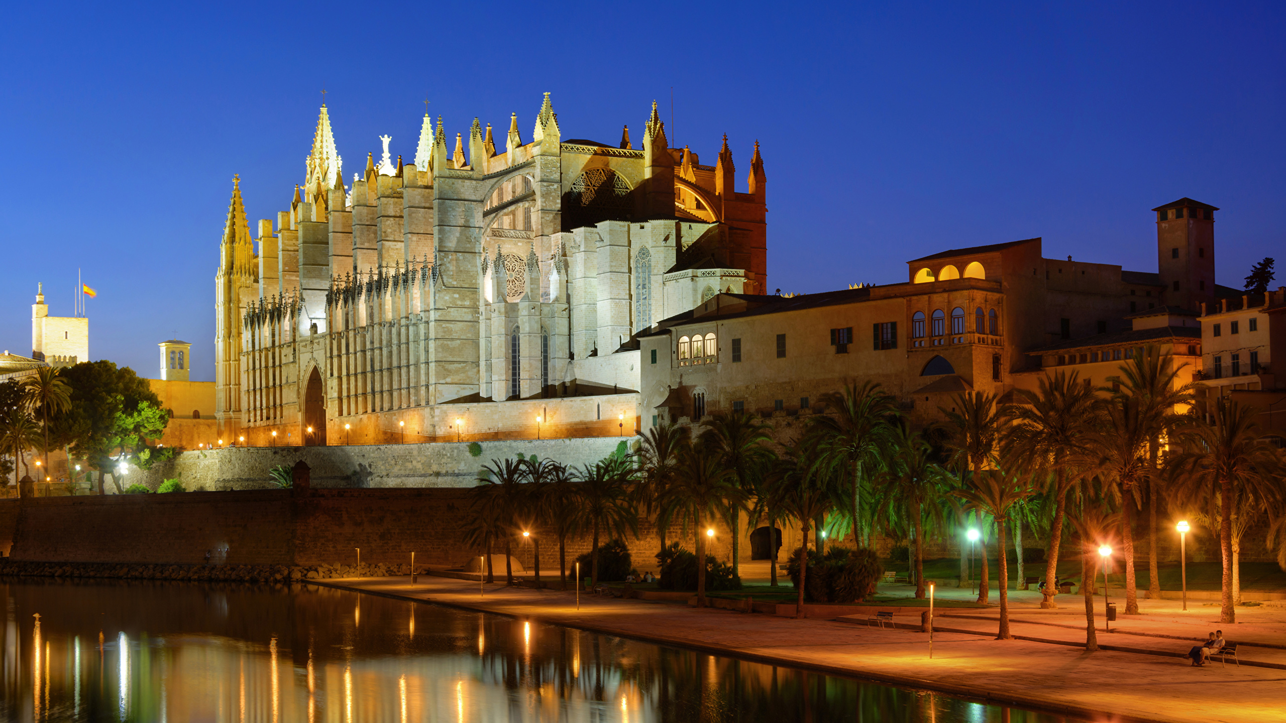 Wallpaper Majorca Mallorca Palace Spain Palma de Mallorca 2560x1440 2560x1440