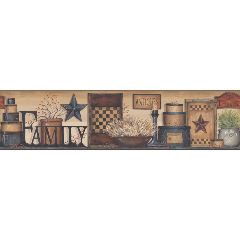 Country Keepsakes Family Shelf Border Wallpaper   Wallpaper Border 1000x1000