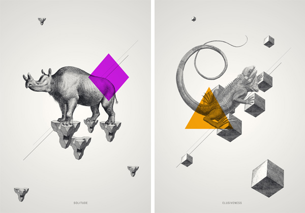 FunMozar Interesting Geometric Animal Wallpaper 600x420