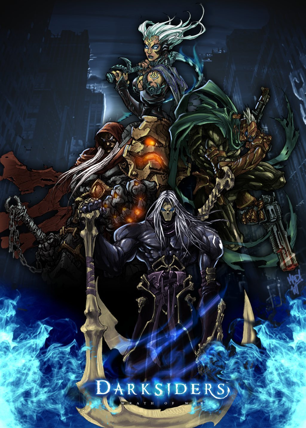 The Four Horsemen   Darksiders Fan Art 2168614 1024x1428