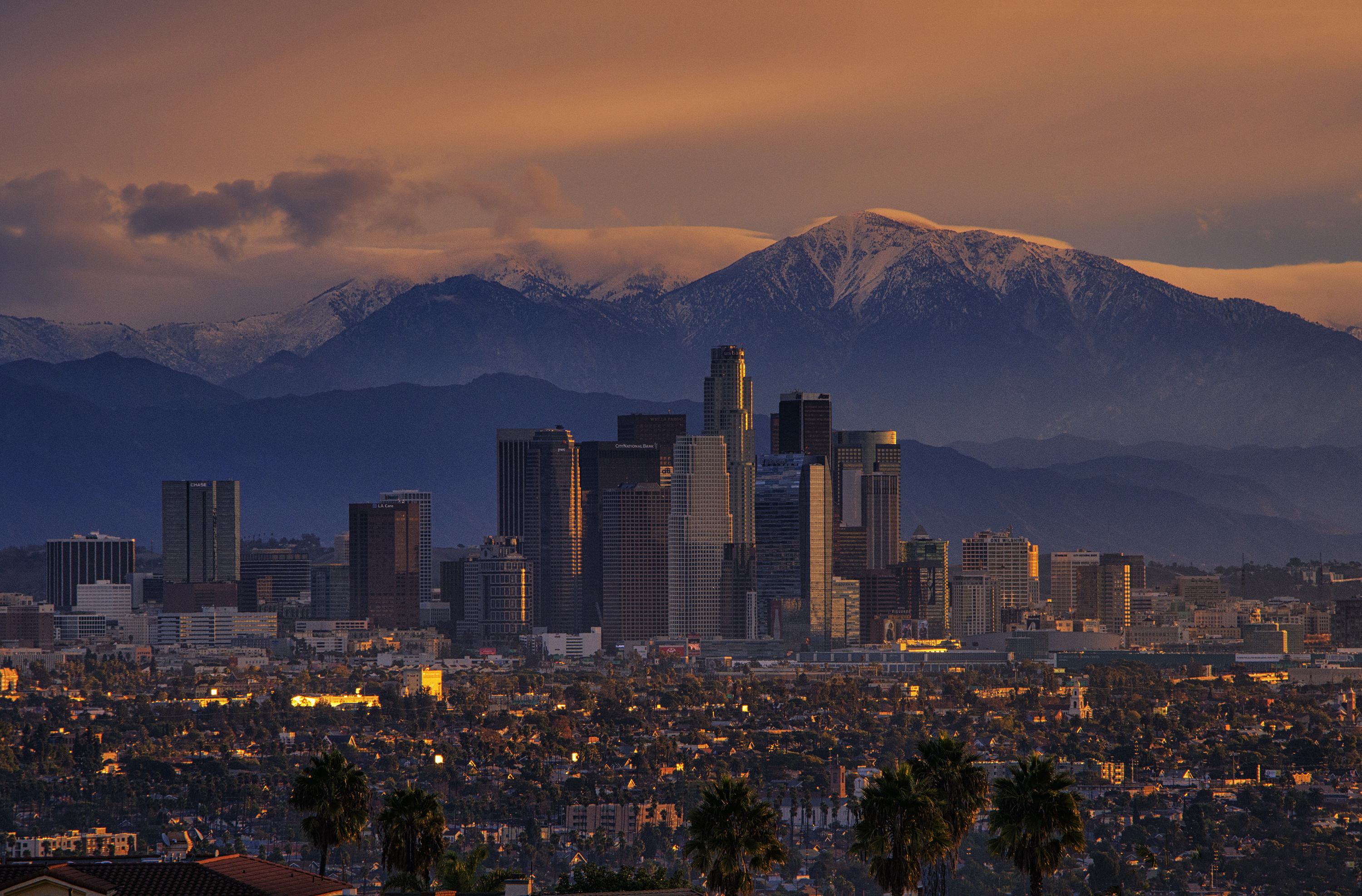 California city Los Angeles mountains wallpaper 3000x1974 228442 3000x1974