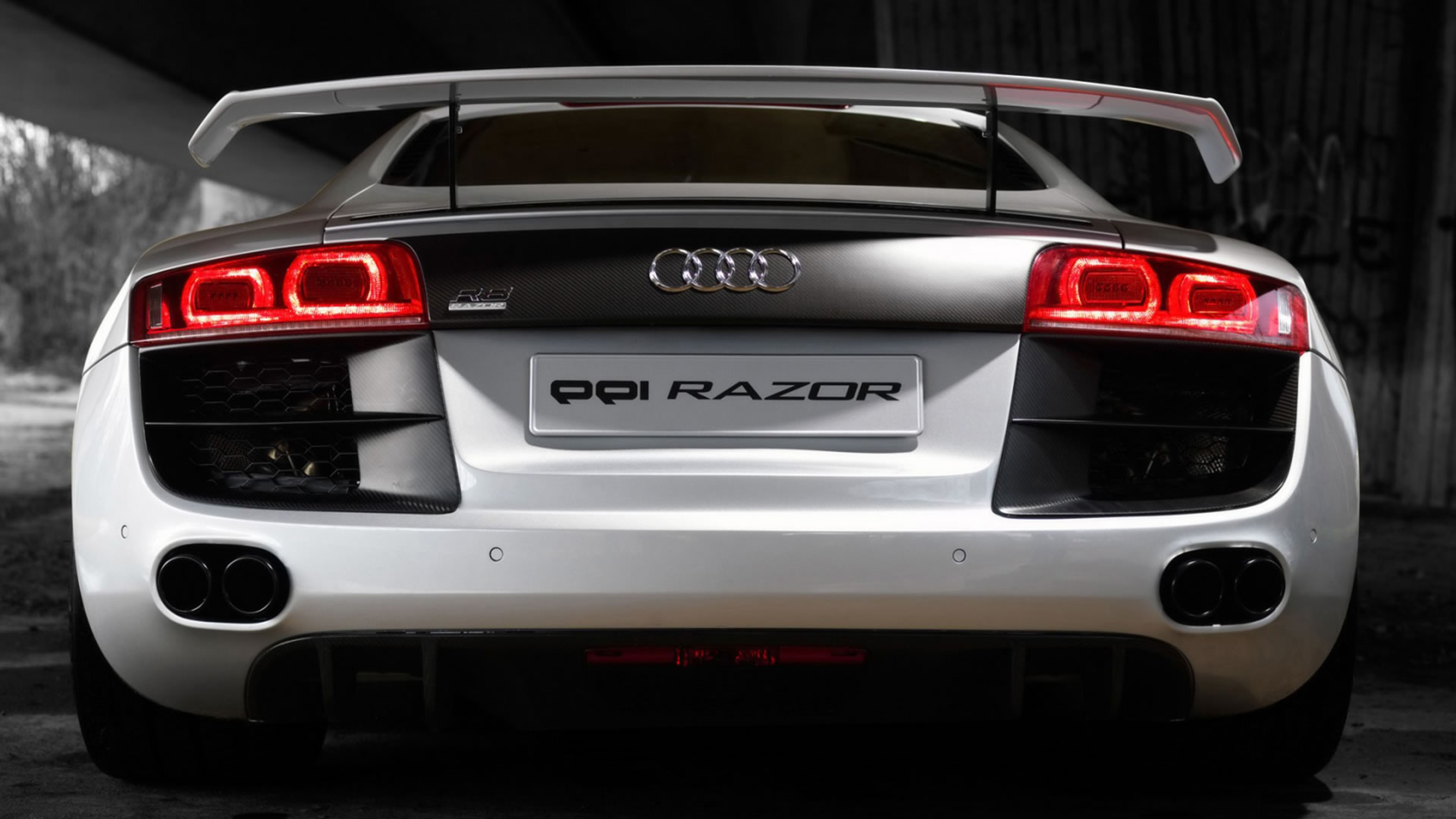 Audi R8 Luxury Car White Symbols Ride Wallpaper Background 4K 3840x2160