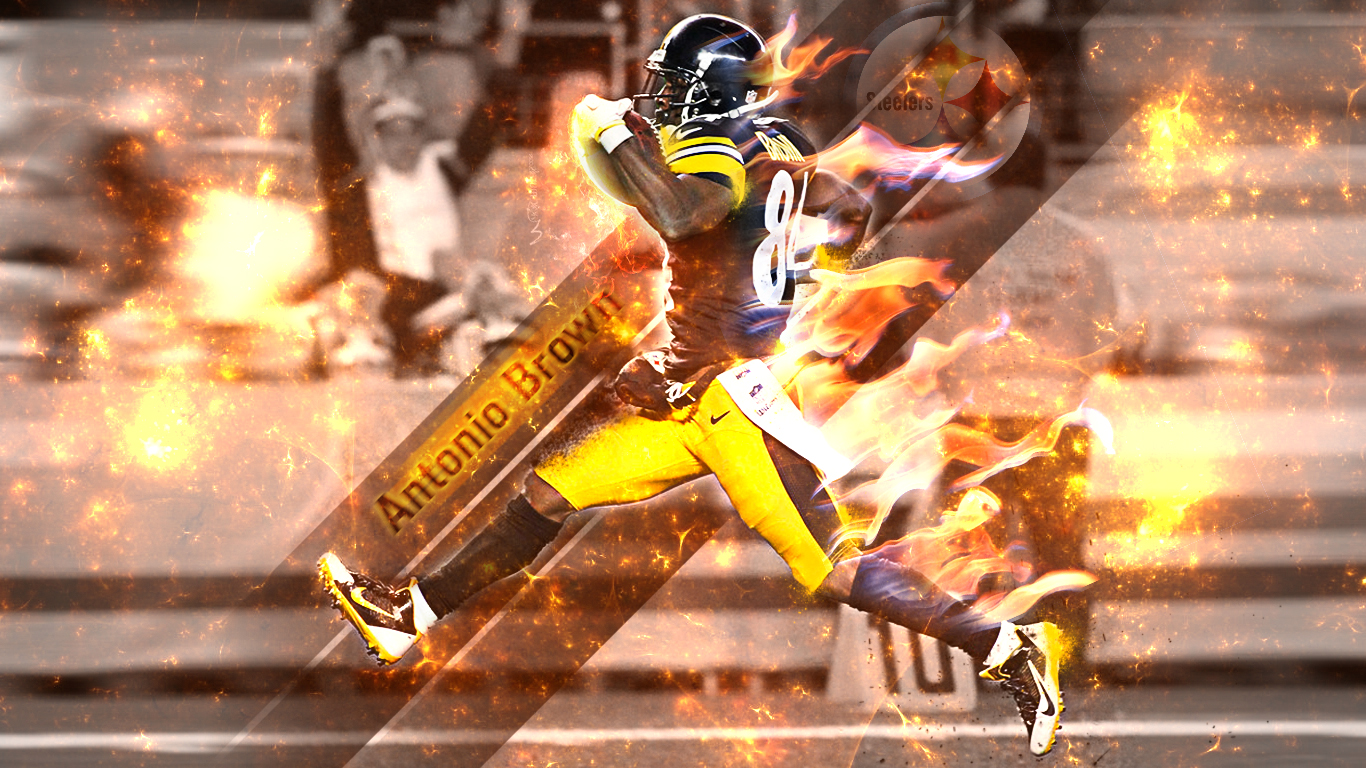 Antonio Brown wallpaper 1366x768