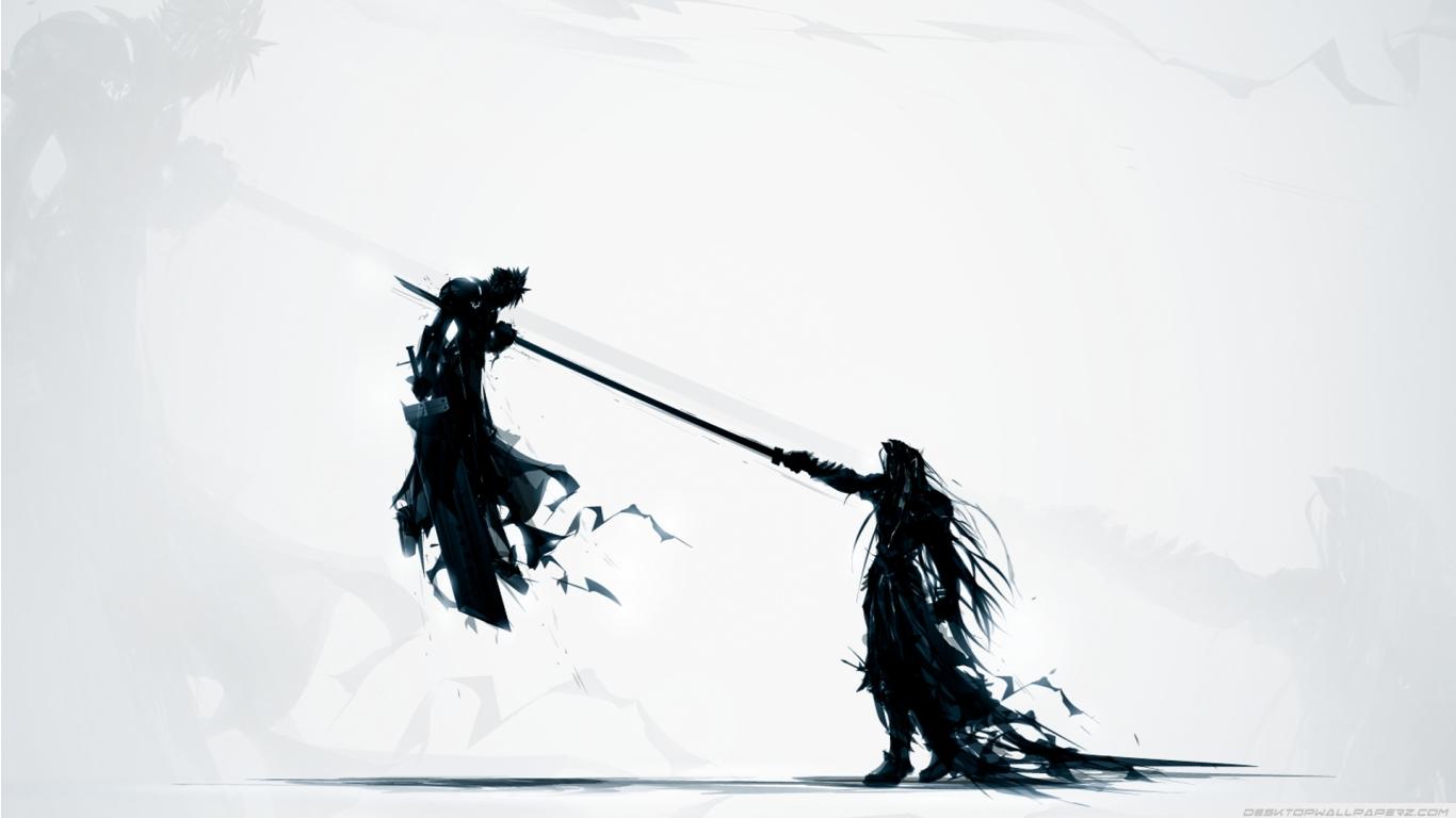 Final Fantasy Vii Katana Sephiroth Cloud Strife Artwork Swords 1366 1366x768