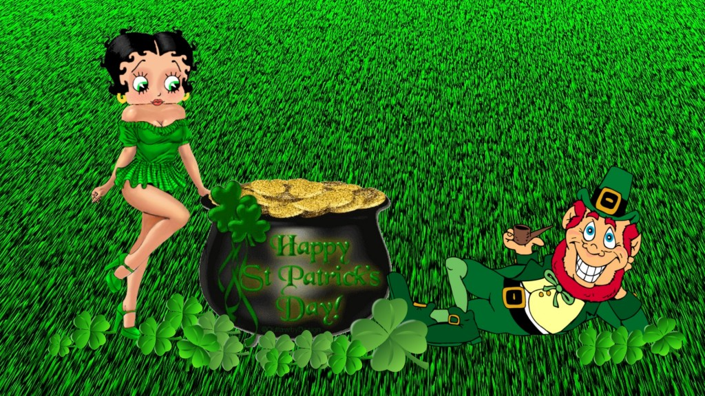 download Get Lucky with Leprechaun Desktop Wallpaper for St 1024x576
