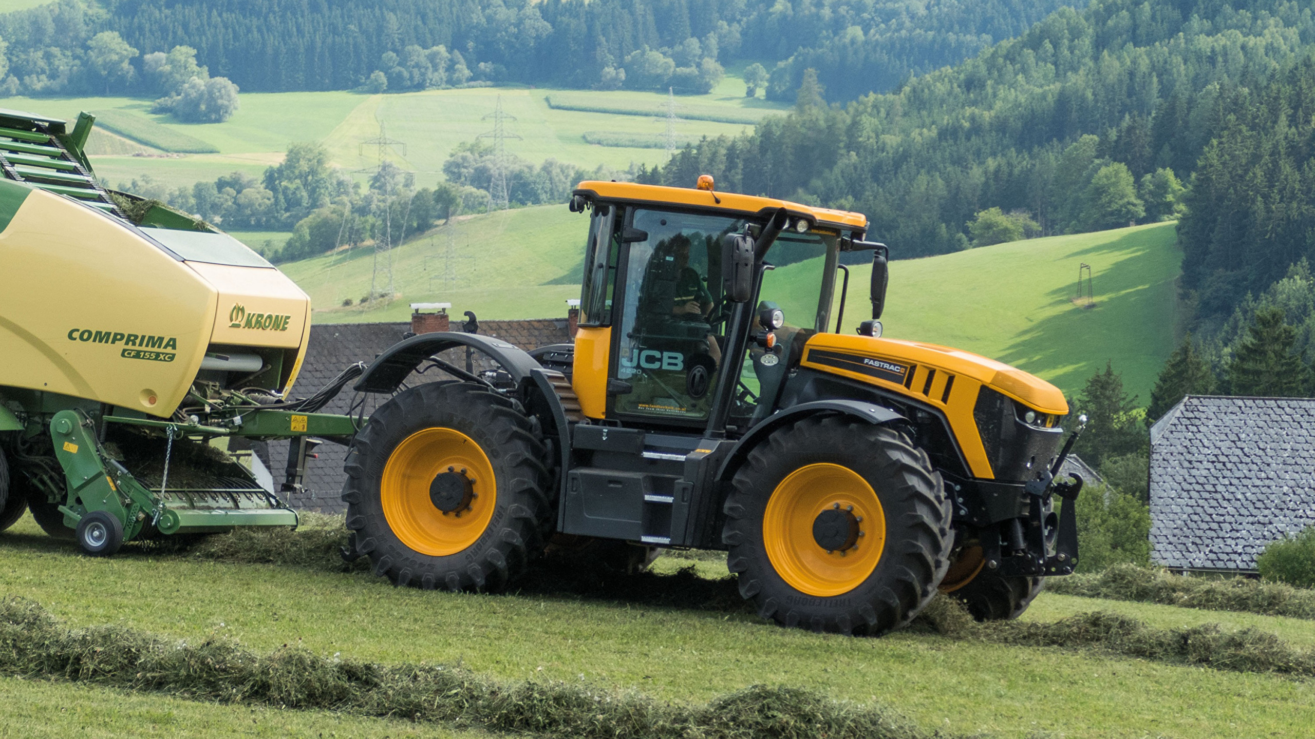 Wallpaper Agricultural machinery tractors 2014 18 JCB 2560x1440 2560x1440