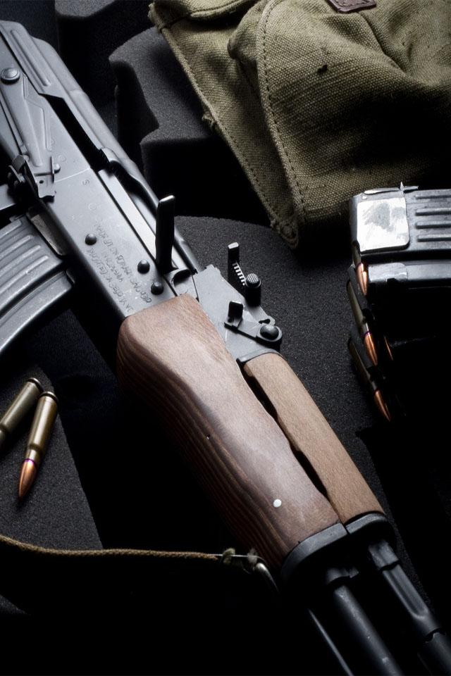 AK 47 rifle iPhone wallpaper 640x960 iPhone Wallpaper 640x960