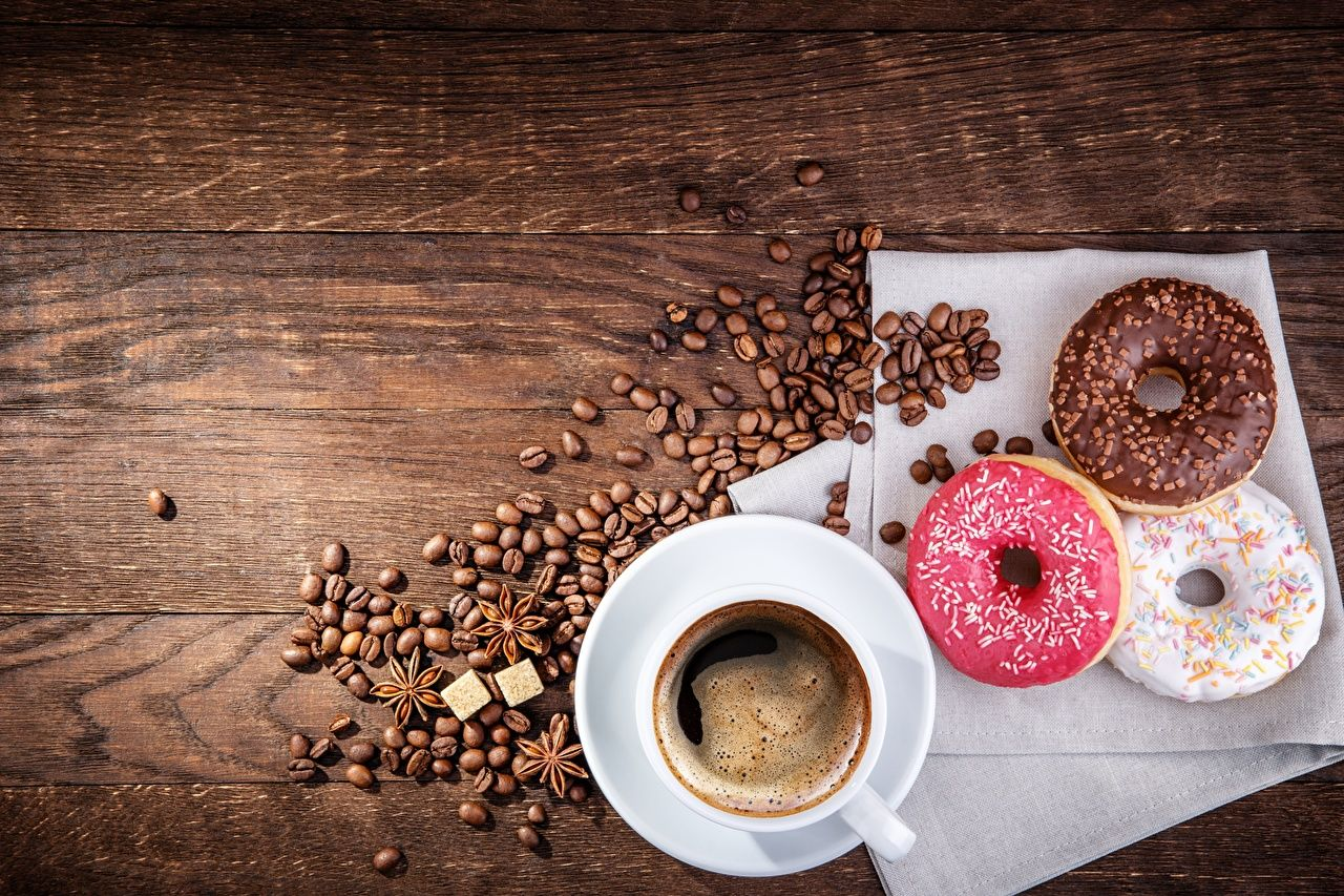Coffee and Donut Wallpapers   Top Coffee and Donut 1280x853