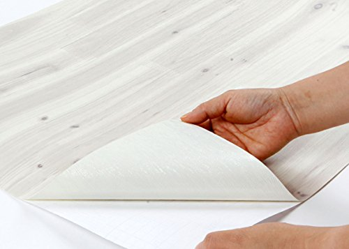 Peel Stick Wood Pattern Contact Paper [DW 25 Cypress Antique White 500x357