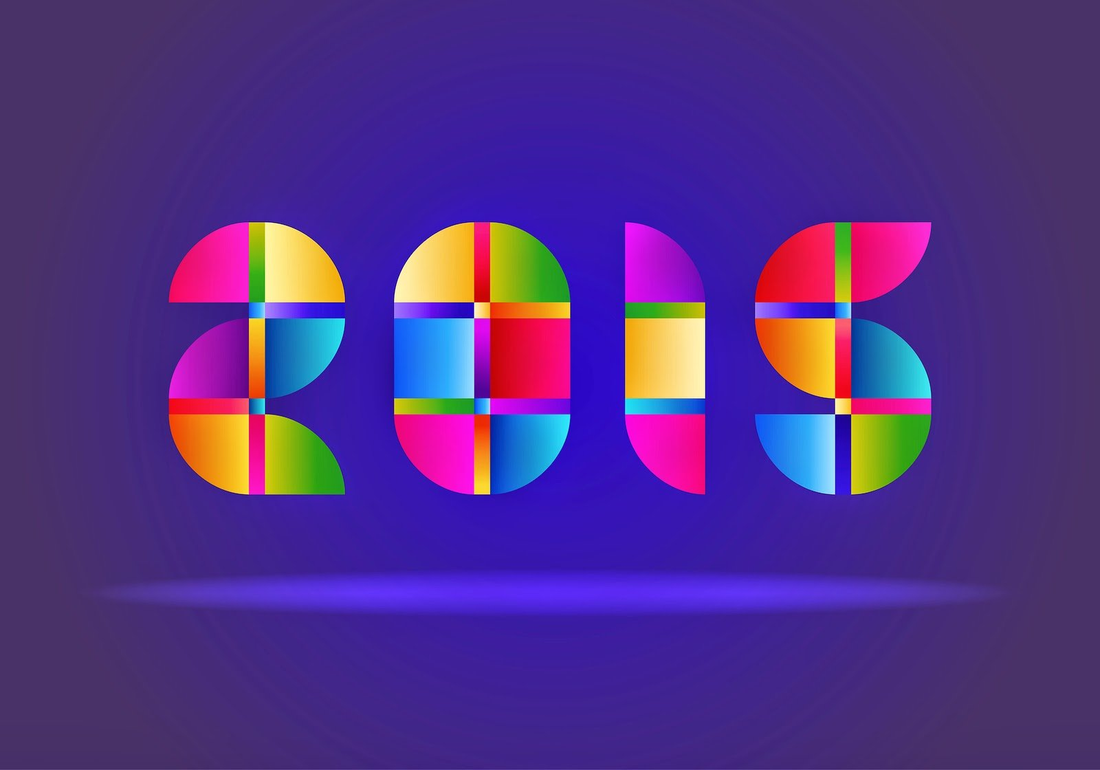 20 Best Colorful Happy New Year Wallpapers 2015 Smash Blog Trends 1600x1120