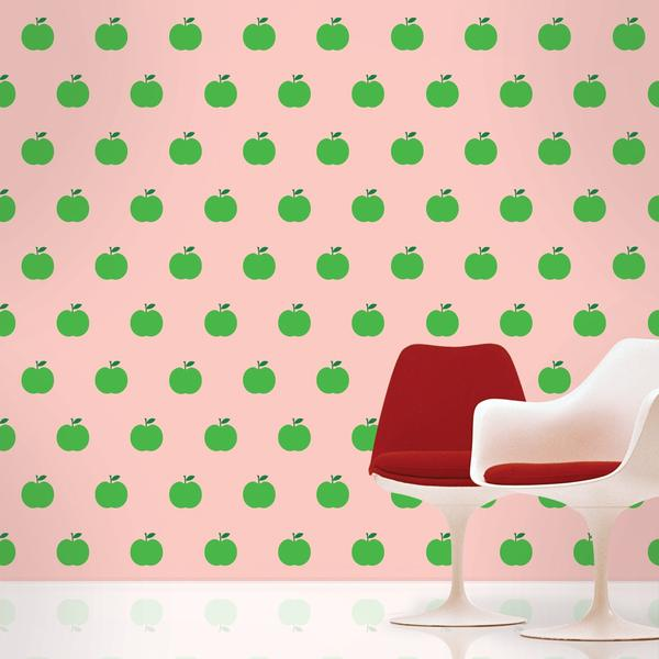Home Christmas Gifts Apple Pink Green Removable Wallpaper 600x600