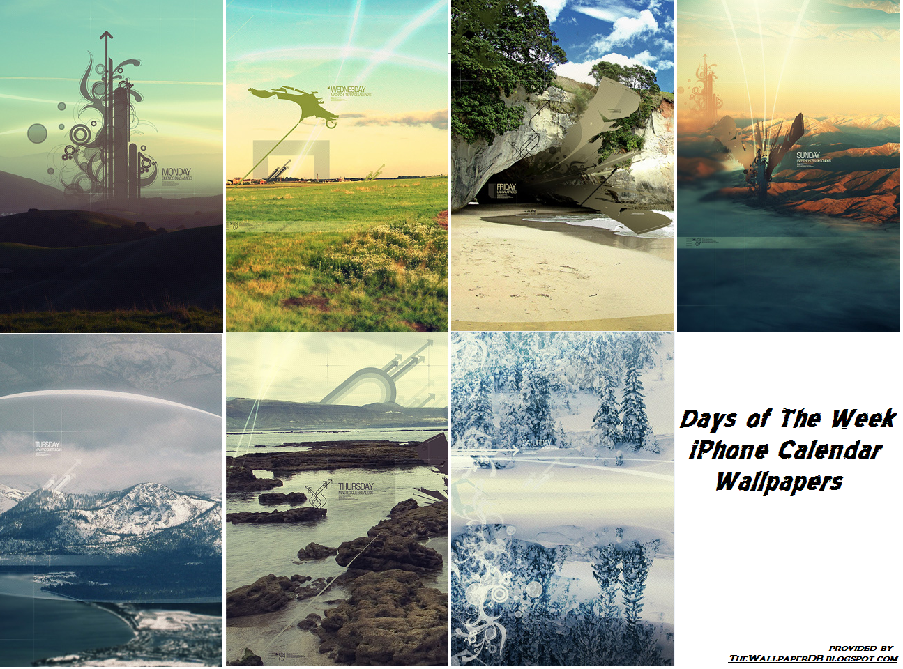 Days of the Week iPhone HD Wallpaper The Wallpaper Database 1295x960