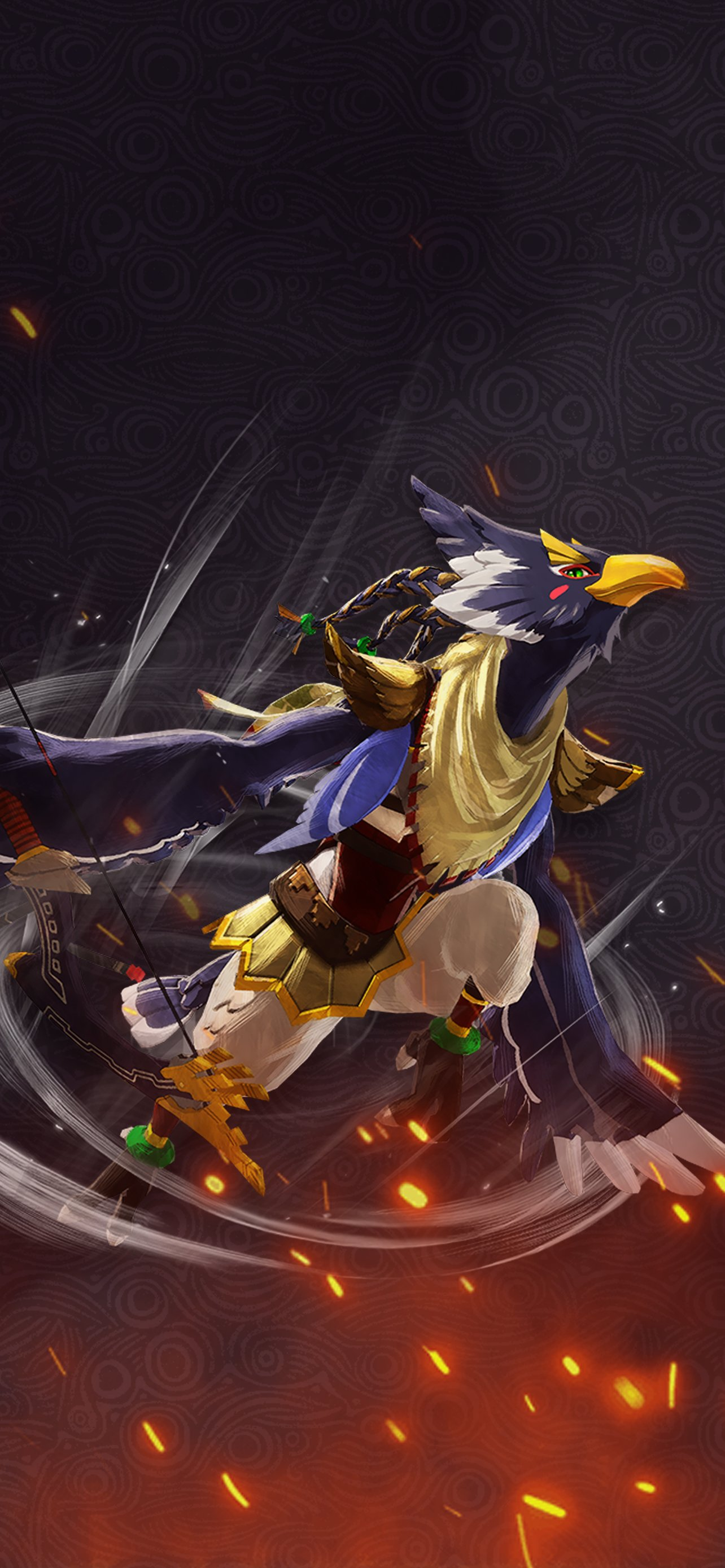 hyrulewarriors ac revali 01 1284x2778 Cat with Monocle 1284x2778