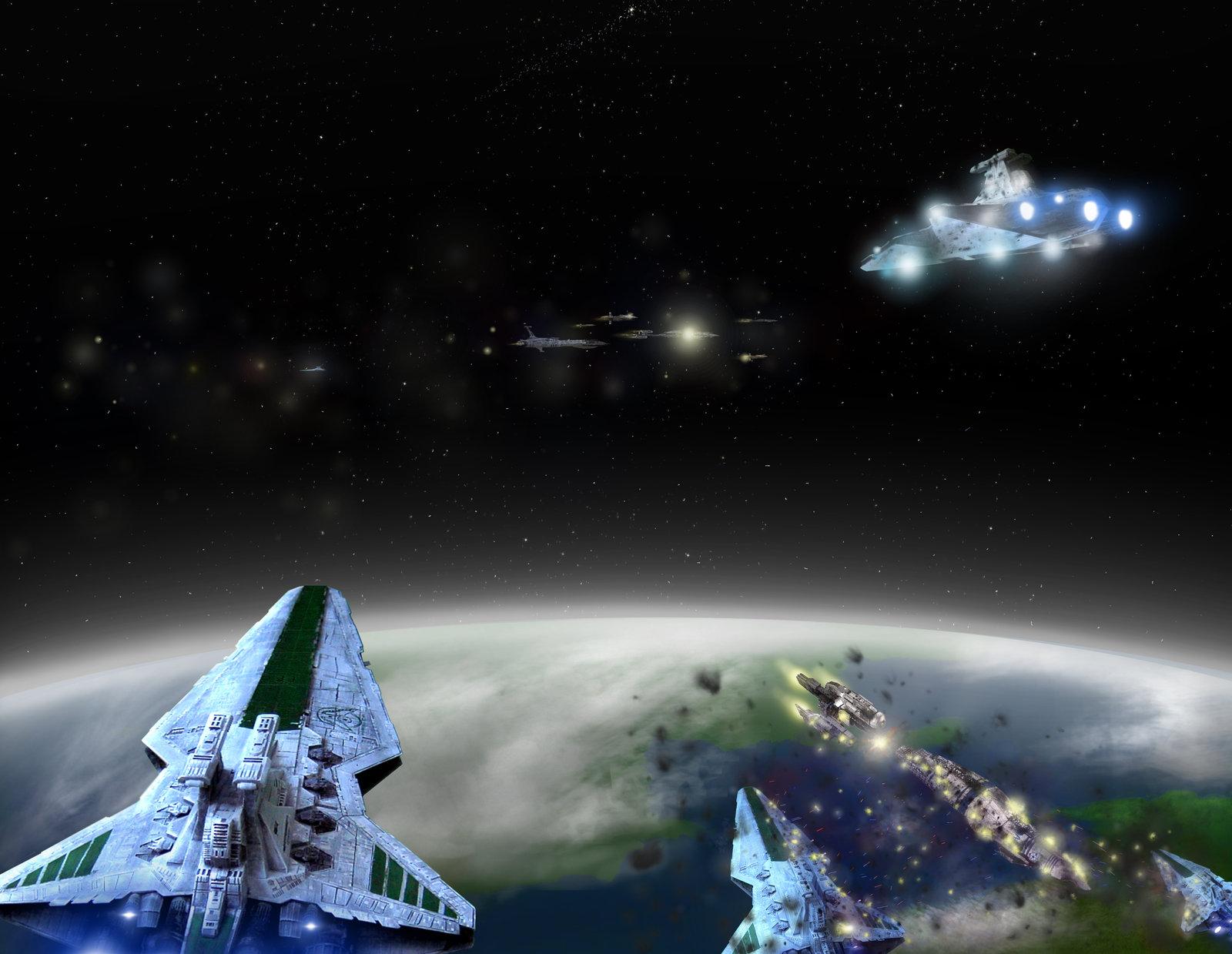 star wars space battle image 1600x1239