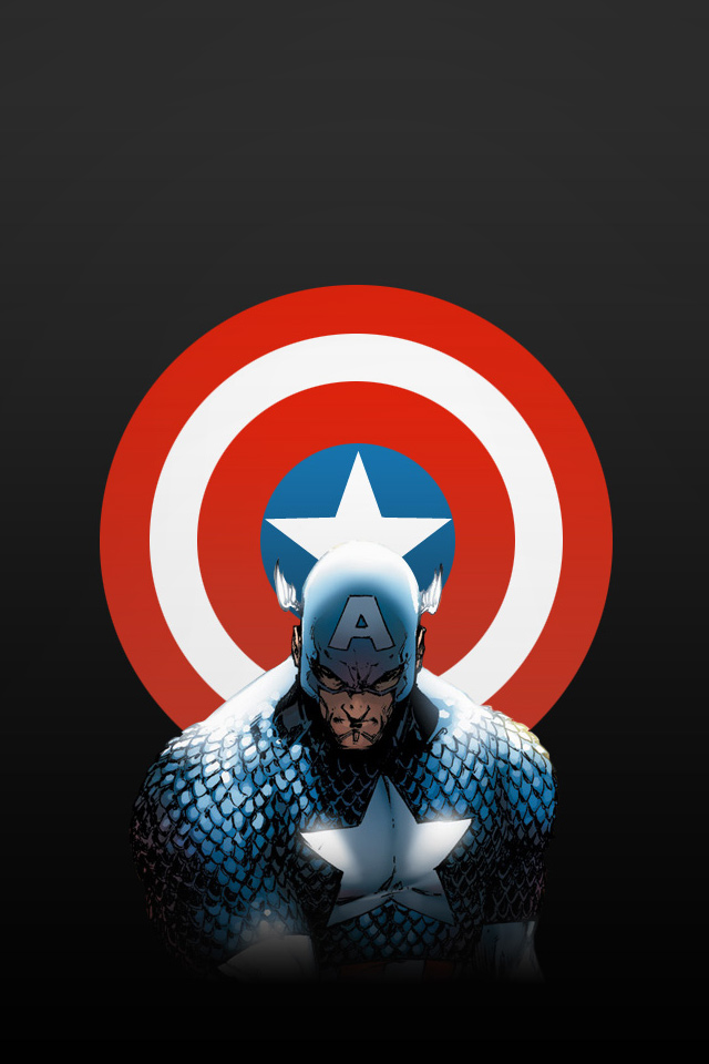 Captain America iPhone Wallpaper 3 iPod Wallpaper HD   Download 640x960