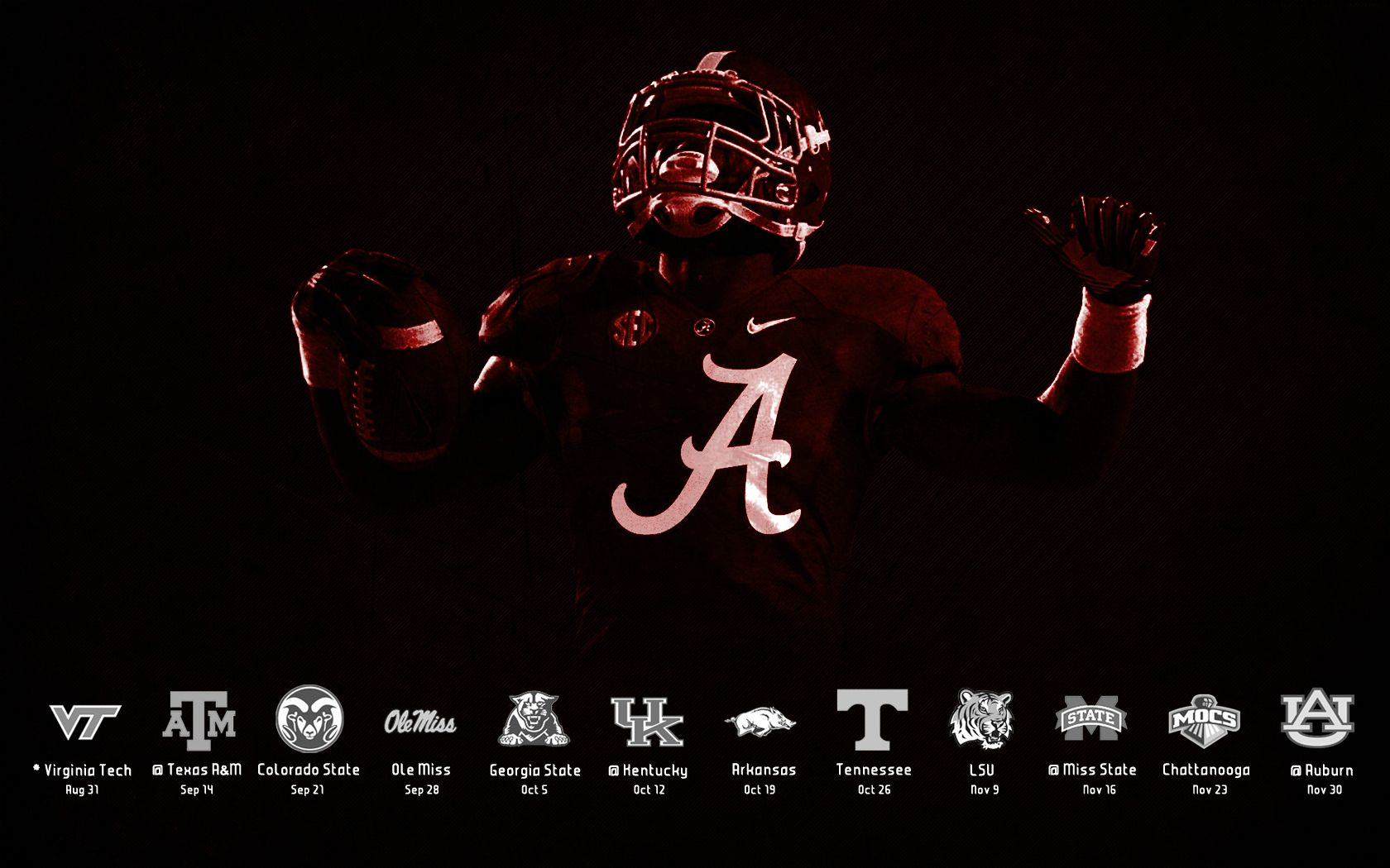 Alabama Crimson Tide Logo Wallpapers Group HD Wallpapers 1680x1050
