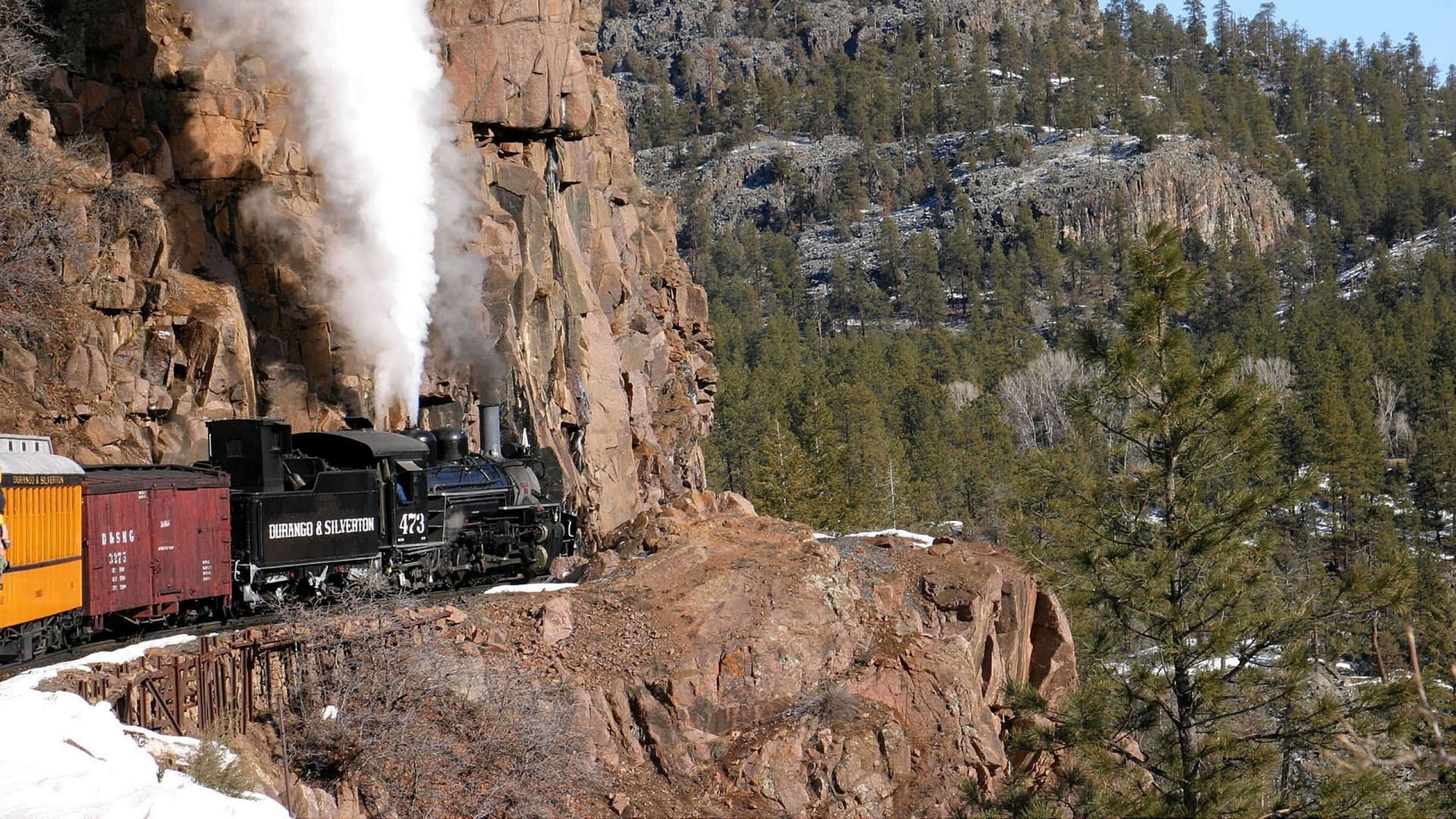 steam locomotive in the mountains wallpapers and images   wallpapers 2560x1440