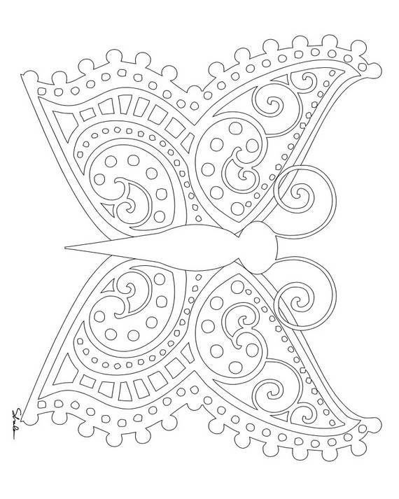 Adult Coloring Pages for Adults 570x713
