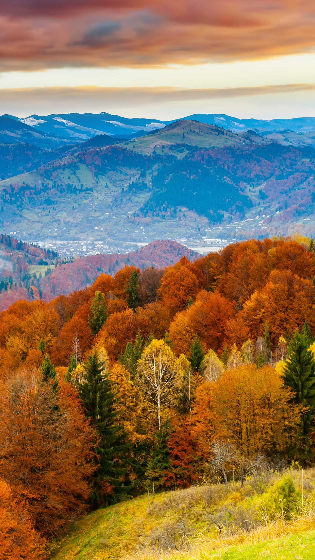 Amazing Mountains And Fall Wallpaper For Iphone   Autumn Wallpaper 1242x2208