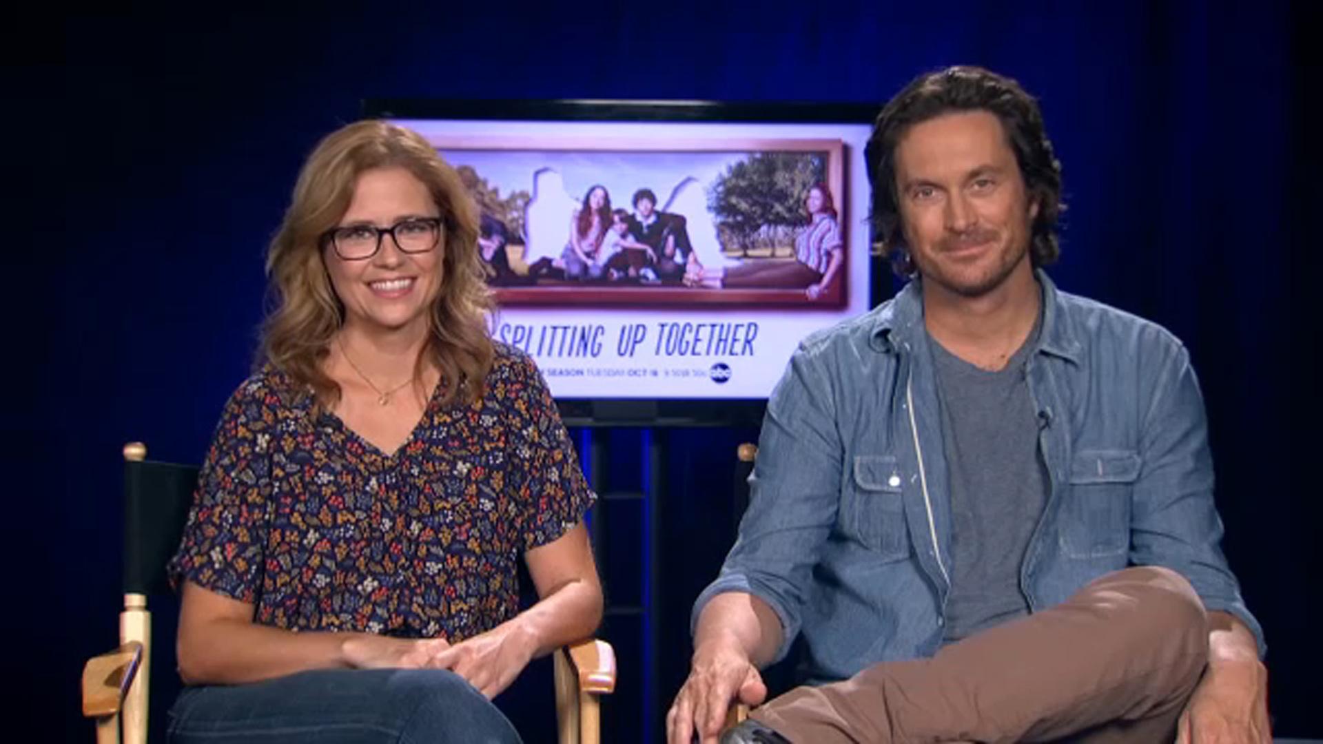 Jenna Fischer Oliver Hudson talk season 2 of Splitting Up 1920x1080
