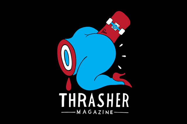 Thrasher presents an original Parra illustrated T shirt of profane 640x426