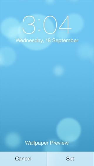 How to setup dynamic wallpapers on iOS 7 320x568
