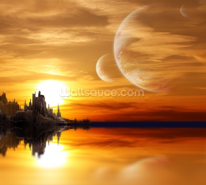 Calculate Wallpaper For One Wall: Wallpaper Science Fiction Planet Landscape