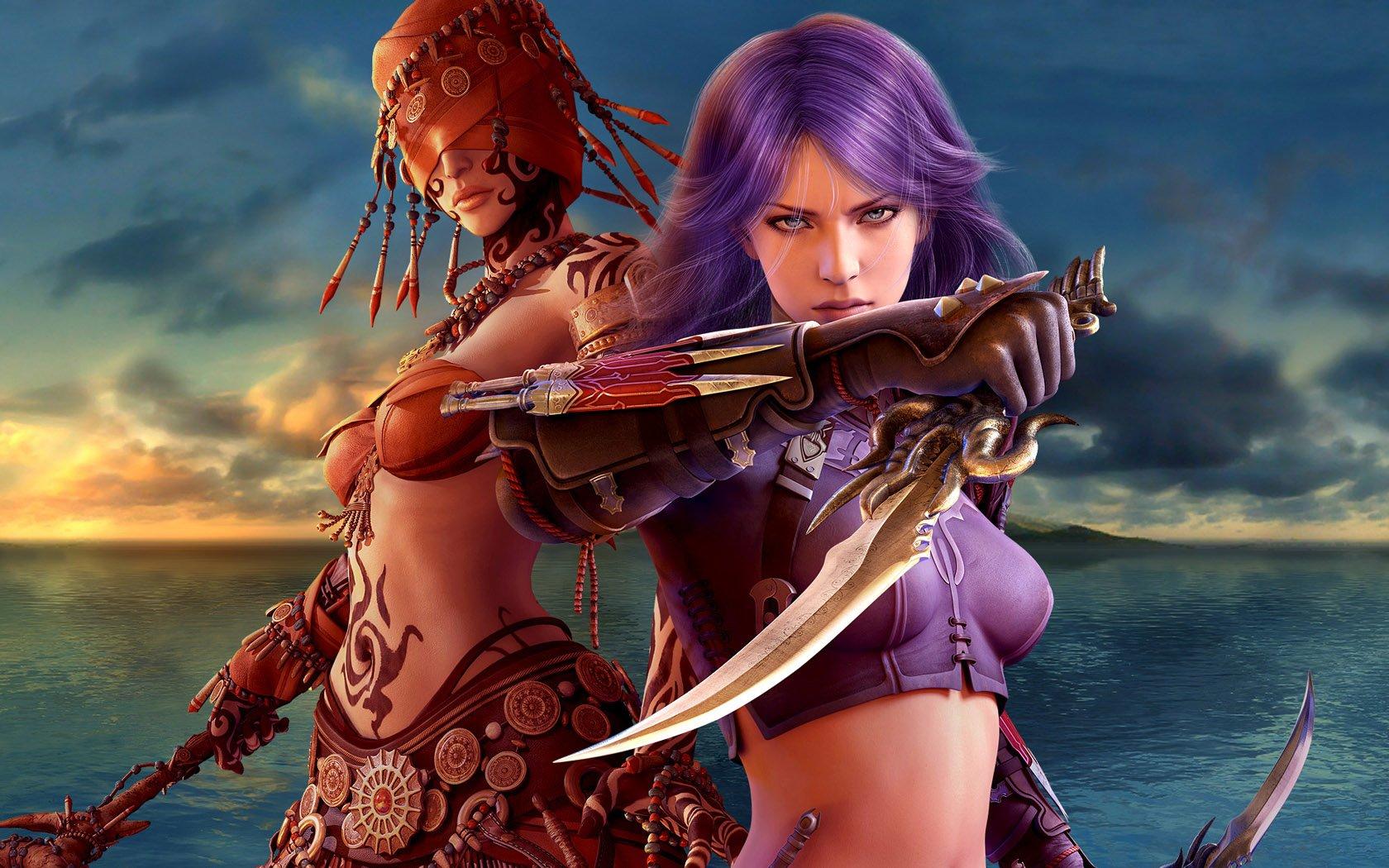 free fantasy warrior women wallpaper - wallpapersafari