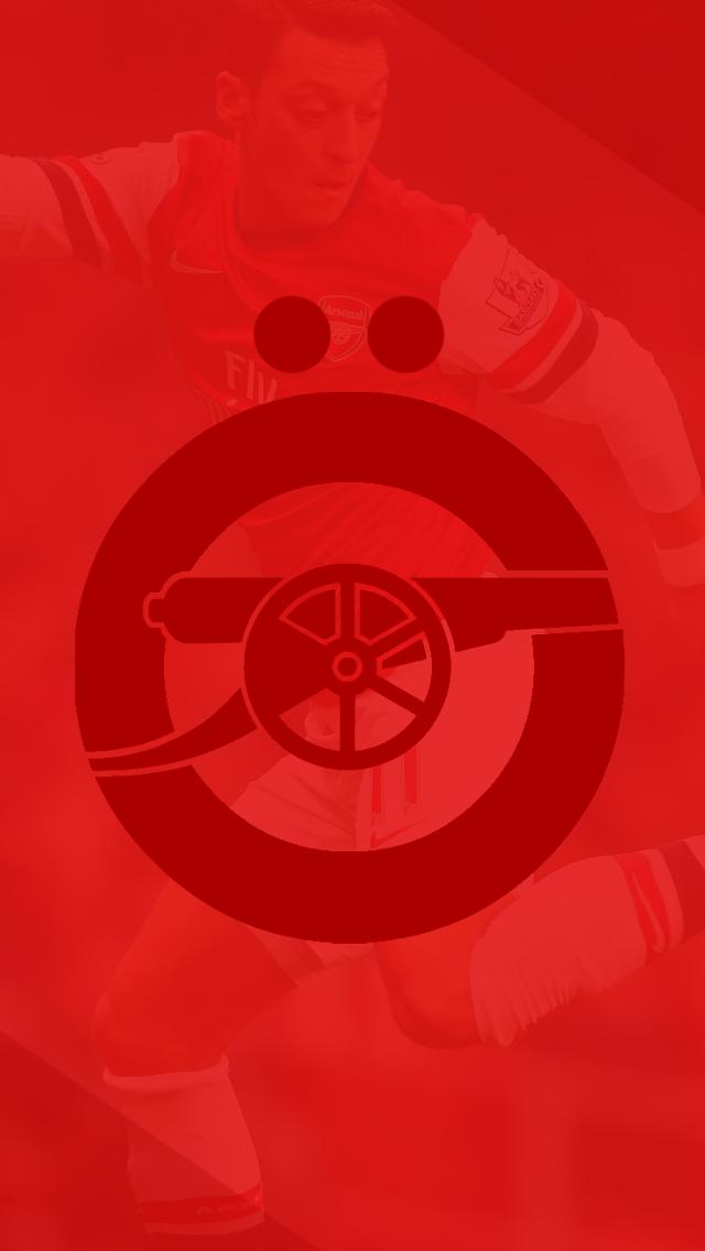 Arsenal zil iPhone 5 Wallpaper 640x1136