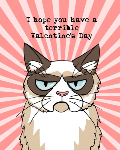 Grumpy Cat Valentine by Elymnesis 480x600