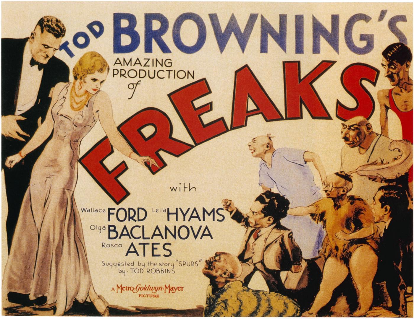 Freaks   Vintage Horror Movie Posters Wallpaper Image 1400x1080
