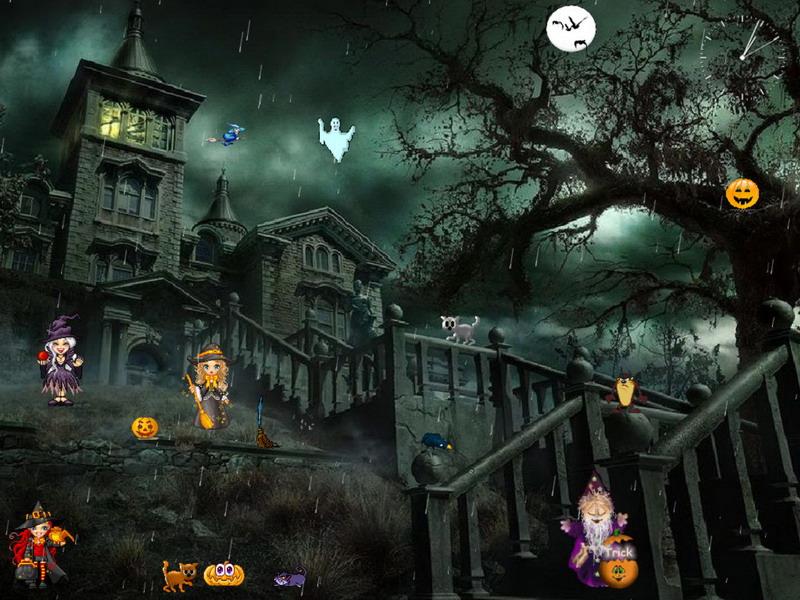 free halloween screensavers with sound 800x600