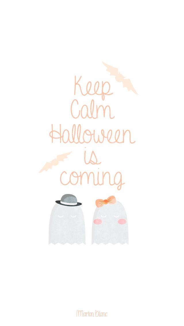Halloween illustration Marion Blanc Click Save Screen Saver 640x1136