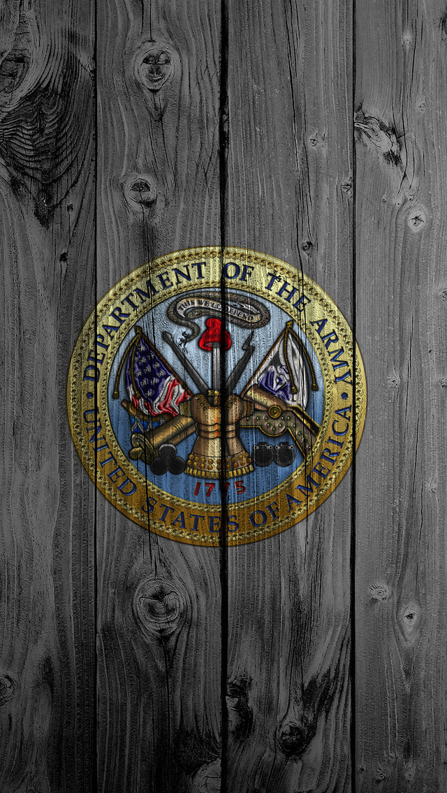 iPhone 5 Wallpaper Top Rated wood us army 640x1136